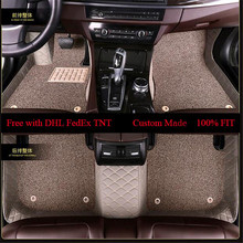 OLPAY Mat Leathe Car Floor Mat For Audi A6L R8 Q3 Q5 Q7 S4 S5 S8 TT RS Quattro A1 A2 A3 A4 A5 A6 A7 A8 Double Layer Foot Pad