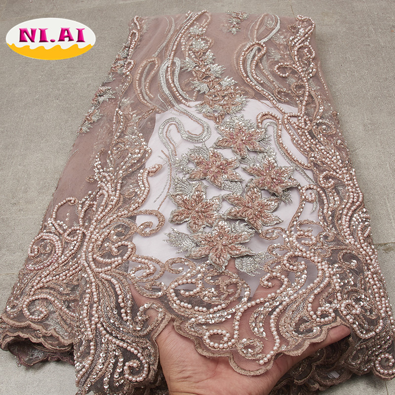 African Lace Fabric 2019 High Quality Lace Luxury Lace New Heavy Dress Fashion Wedding Lace For