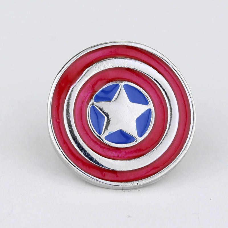 المنتقمون Endgame خارقة الكابتن الأمريكي الأعجوبة ثانوس إنفينيتي غاونتل دبوس دبابيس شارة تأثيري مجوهرات هدية للرجال النساء