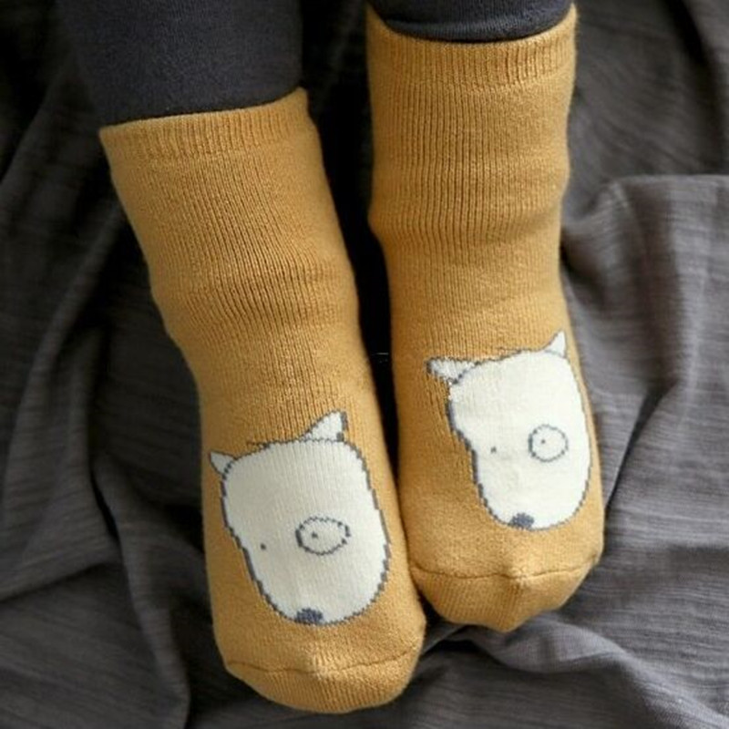 Free Shipping 2021 Winter Thick New Born Girls Boys Baby Socks Cotton Casual Meias Infantil Anti Slip Terry Socks Soft 3