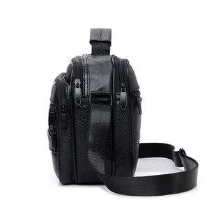 Image 4 - New Men Leather Handbag Zipper men Business bag Black Male Bag Shoulder bags Messenger bags mens briefcases bag Crossbody bag