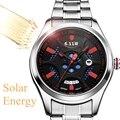 611 mannen quartz horloge solar/licht energie drive fashion business waterdicht stalen band man top merk luxe mannelijke horloge