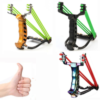 2 Rubber Bands Folding Wrist Slingshot Catapult Outdoor Games Powerful Hunting Bow Arrow Sling ShotTools Hunting