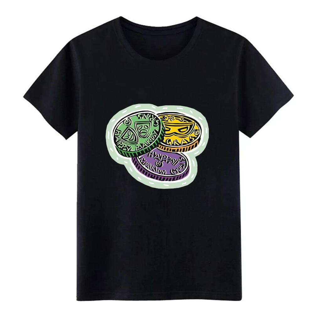 Mardi Gras t shirt Customized cotton S-XXXL Formal Anti-Wrinkle Funny Summer Style Unique shirt