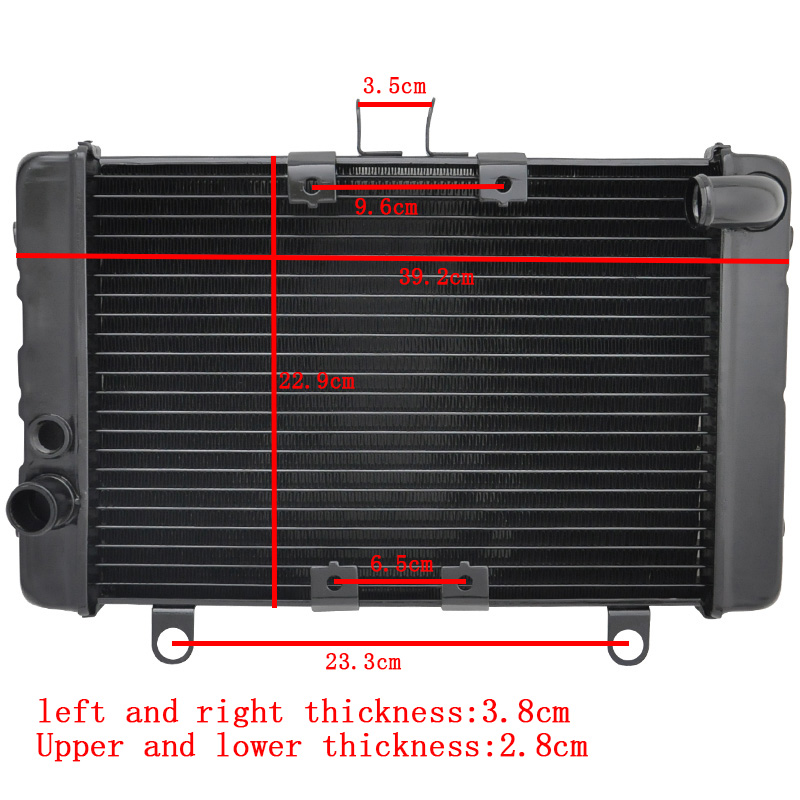 LOPOR Motorcycle Aluminium Cooling Cooler Radiator For Honda CB1000 CB 1000 CB1000F 1993 1994 1995 1996 19010-MZ1-003 NEW наклейки для мотоцикла cb1000 1993