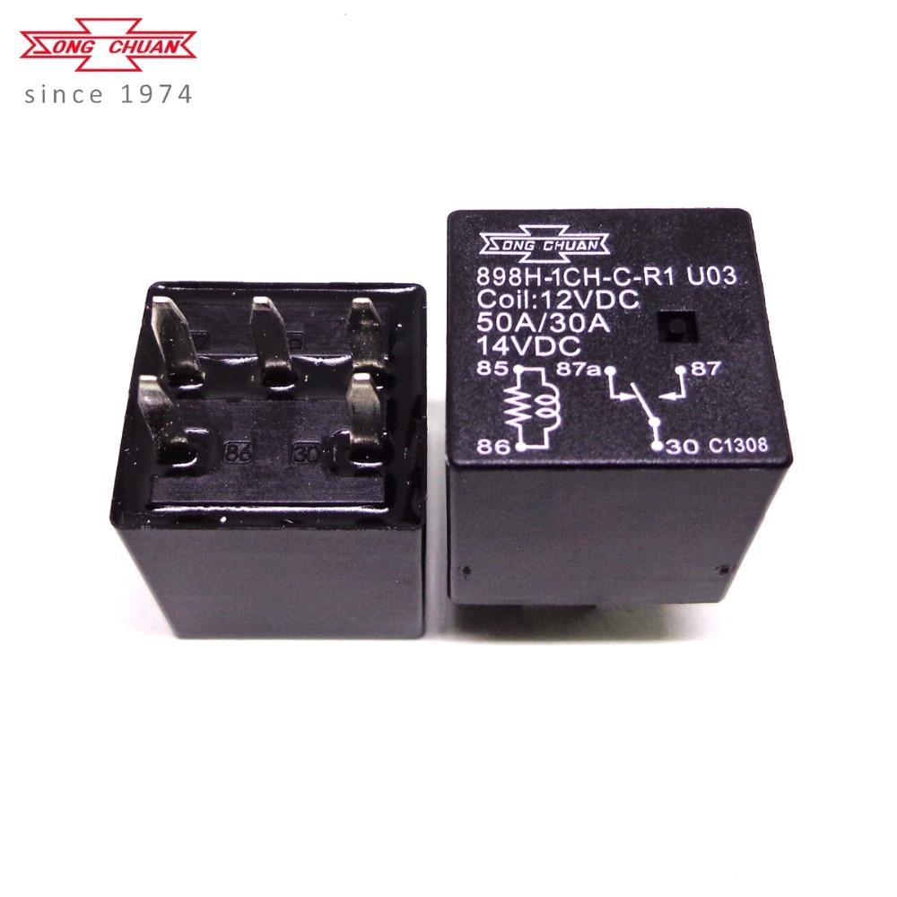 5pcs 896H-1CH-C1 SONG CHUAN 12VDC Relay NEW