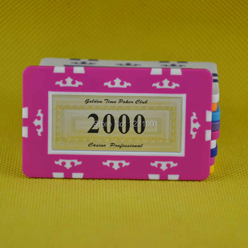 FM-010 Rectangle poker chip, ABS material, Big Denominations, 6pcs/lot, Free shipping