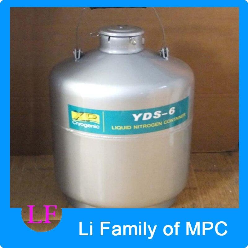YDS-6 Aluminum Alloy Cryogenic Container Liquid Nitrogen Storage Container Liquid Nitrogen Tank