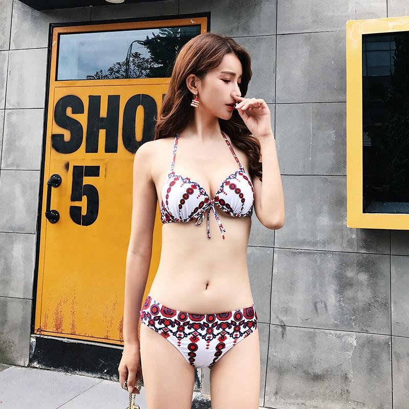 Short Sleeves Cover Up Tassel Swimwear Women 2017 Swimsuit Beachwear Push Up Bathing Suit Swim Wear Halter Neck Swimming Suits