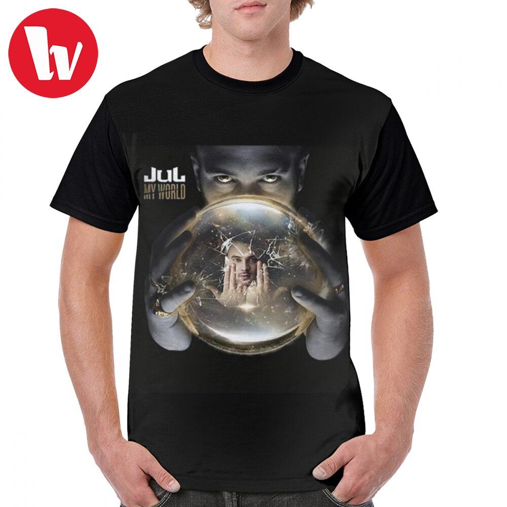 Jul T Shirt Jul My World T-Shirt Male Summer Graphic Tee Shirt Fun 4xl 100 Percent Polyester Short Sleeve Print Tshirt