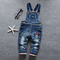 2017 New Kids Boys/Girls Blue Denim Jeans Boys/GirlsOveralls Jumpsuits For Toddler Boys/Girls Bib Pants