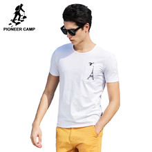 Pioneer camp 2017 קיץ אופנה חדשה הגברים t שירט כותנה slim fit פשוט מותג חולצת טריקו גברים למעלה איכות גברים מזדמנים לבנים חולצת טי(China (Mainland))