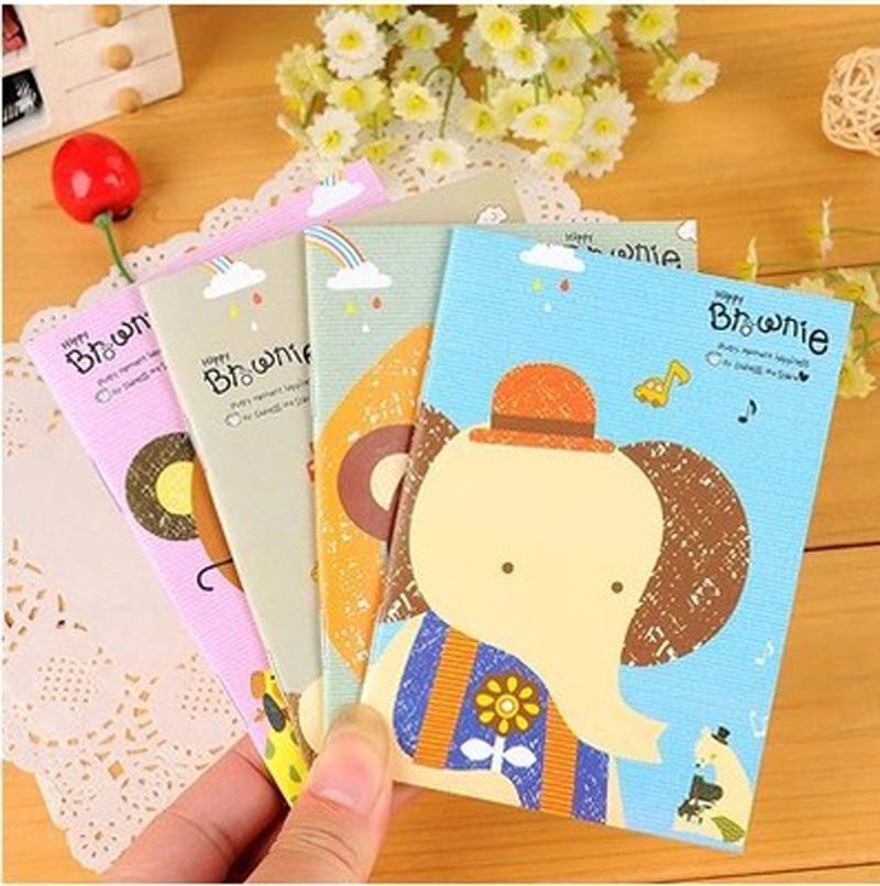 Ambitious 4pcs/lot 12*8.5cm Korean Stationery Cute Cartoon Animal Monkey Learning Supplies Student Prizes Small Notes Notebook Pocket Notebooks Notebooks & Writing Pads