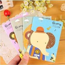 4pcs / lot 14.2*21cm New Korean Version Stationery Beard Series 32K Car Line Creative Note Book Students Supplies