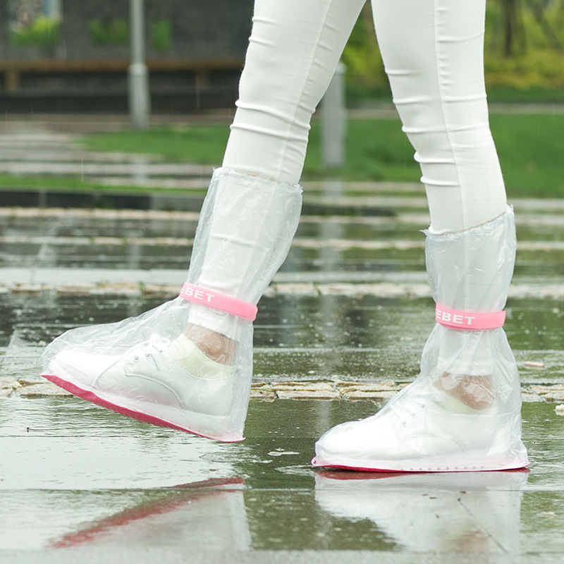 PVC Transparent Non-slip Rainproof Shoes Cover For Women/man/Child Waterproof High Boots Small/medium/large Cover Bag For Shoe