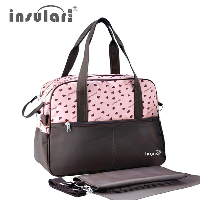 Women Nylon Handbags Mummy Bag Baby Nappy Bag Travel Multifunction Waterproof