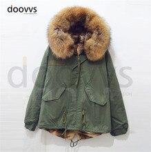 Free Shipping Winter Women Warm Fur Collar hooded Down Jacket hood high quality fur Coat parka outwear 4 Colors