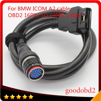 For BMW ICOM A2 diagnostic tool Interface Cable OBD2 16pin to 19pin car cable ICOM A3+B+C Coding connect A2 Cables 2018 for bmw car and motorcycle diagnostic tool for bmw icom a2 b c d without software 4in1 best quality