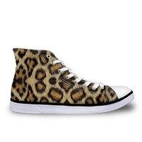 Мужская парусиновая обувь с леопардовым принтом, мужские кроссовки на плоской подошве, мужская обувь с высоким берцем, Повседневная дышаща...