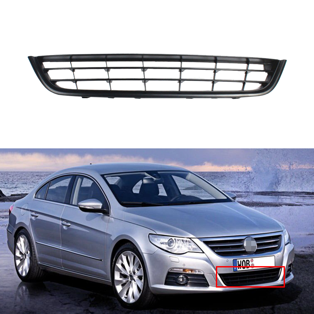 Front Bumper Lower Grille For VW CC 2009-2012 3C8853677Front Bumper Lower Grille For VW CC 2009-2012 3C8853677
