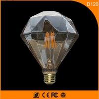 50 шт. 5 Вт Винтаж b22 e27 светодиодные лампы, d120 Ретро Эдисон лампа для Гостиная Спальня Кофе баров AC 220 240 В