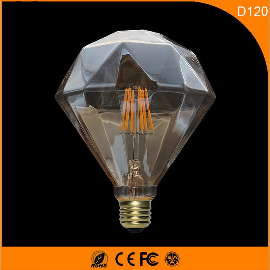 50PCS 5W Vintage B22 E27 Led Bulb ,D120 Retro Edison Light Bulb For Living Room Bedroom Coffee Bars AC 220-240V 50pcs  6w d120 vintage b22 e27 led bulb
