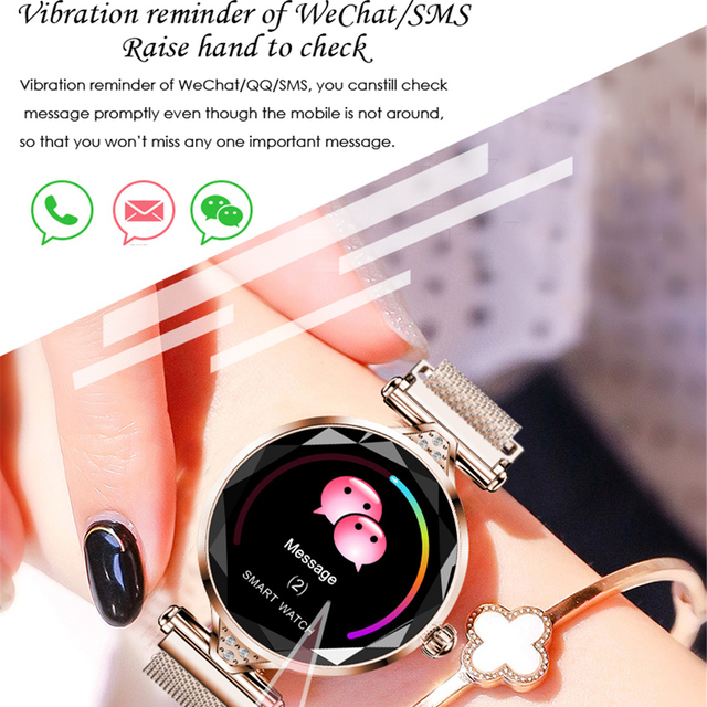 H1 Lady Smart Watch Fashion Women Watch Heart Rate Monitor Fitness Tracker Women Smartwatch Bluetooth Waterproof Smart Bracelet. 2