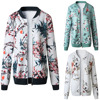 Retro Zipper Bomber Army Coat Floral Flight Biker 3