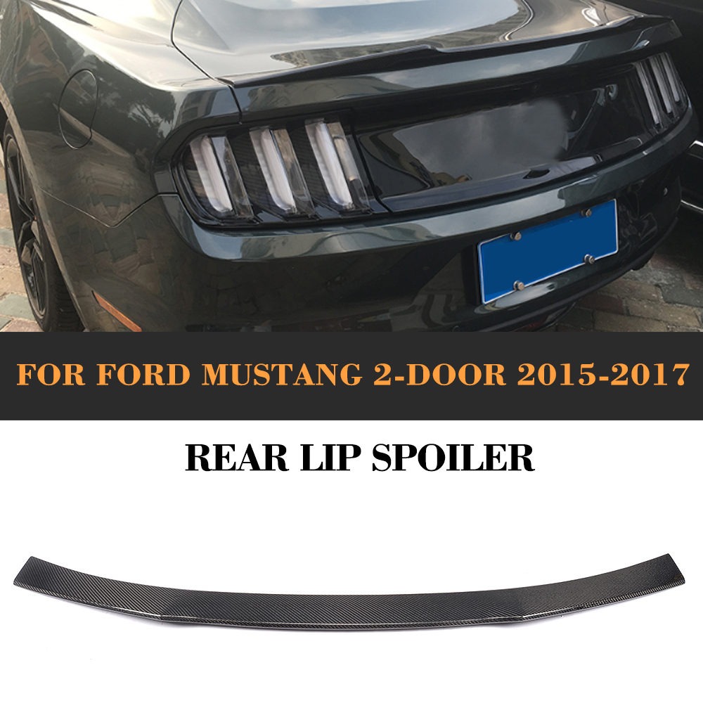 Carbon Fiber Rear Wing <font><b>Spoiler</b></font> Tail Trunk Lid Lip Wing <font><b>Spoiler</b></font> for Ford <font><b>Mustang</b></font> GT Coupe <font><b>2015</b></font>-2017 image
