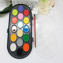 Sketch DIY Paint Brush Portable Paint Box Tool Gift Professional Solid Water Color Kids Toy Handwork Art 16 Colors Paintbrush
