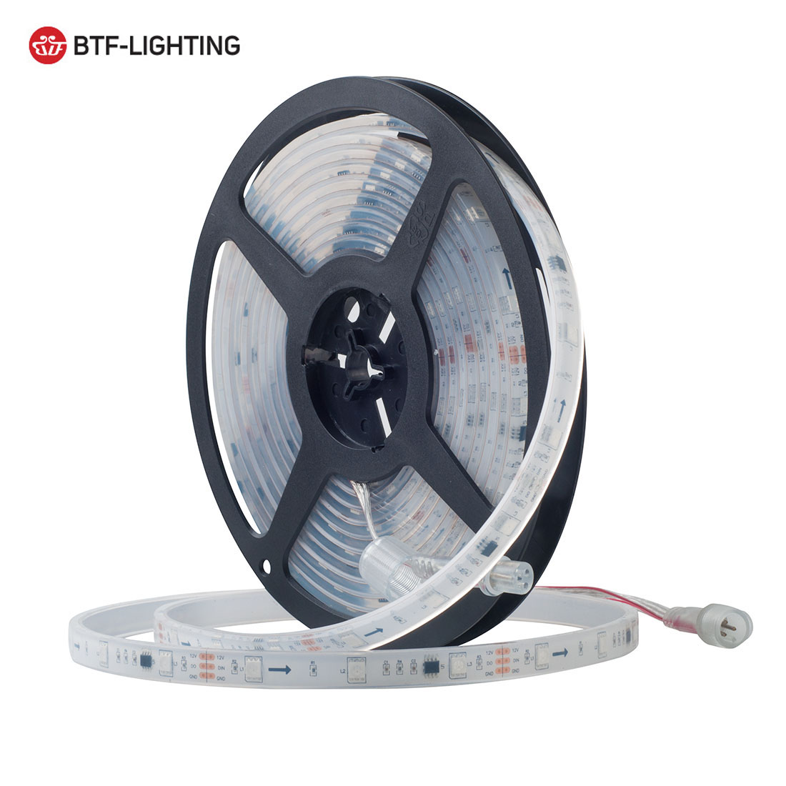 Lights & Lighting Fine 5m Ws2811 Led Strip Dc12v Ultra Bright 5050 Smd Rgb Led Addressable 30/60led/m Connector In Silicone Packaging Better Waterproof To Have A Unique National Style