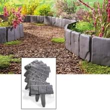 10 шт. серый садовый забор окантовка мощеная вставка тип земли пластиковые заборы лужайка окантовка растений украшения цветочной кровати