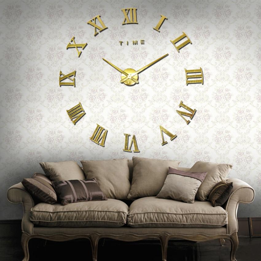 2019 нова мода великого розміру настінні годинники дзеркала наклейка годинник прикраса будинку настінні годинники конференц-зал настінні годинники безкоштовна доставка