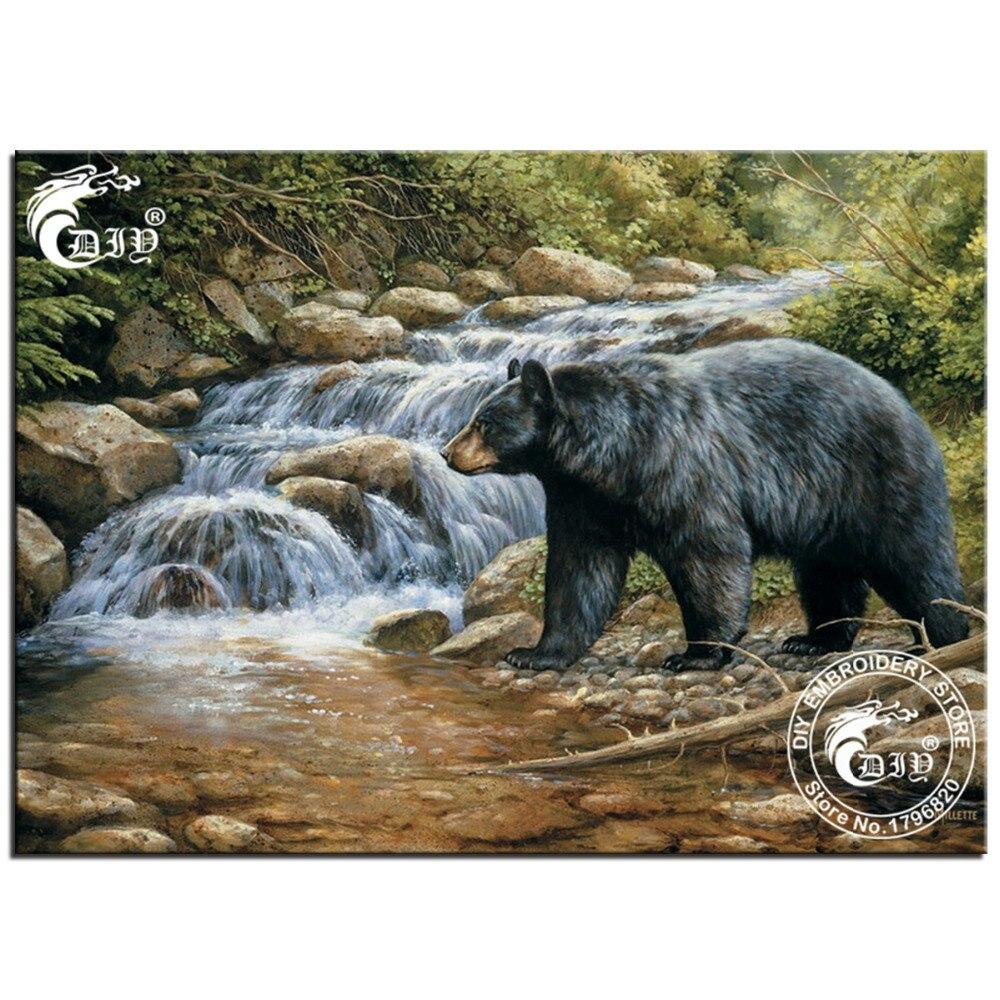 popular black bear paintings-buy cheap black bear paintings lots