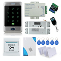 Remote control door locks system with High quality metal waterproof touch keypad+12V power supply+door bell+bolt lock+keycards