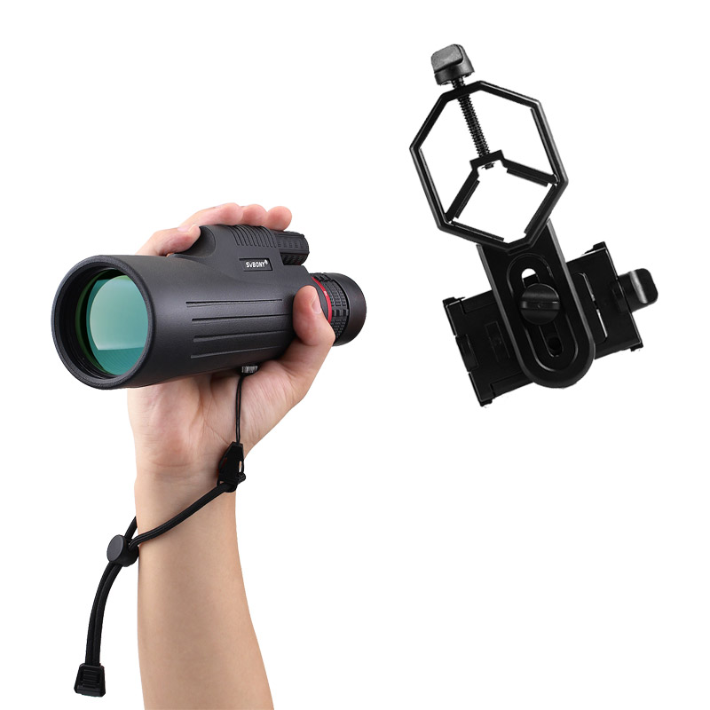 SVBONY SV12 Monocular 8-24x50 Zoom Telescope FMC Prism w / Cellphone Adapter For Hiking Camping Birdwatching Tools F9325 veber бпц zoom 8 24x50