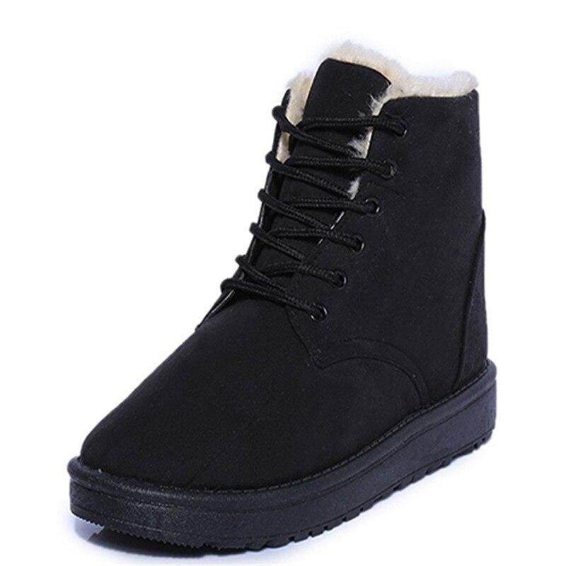 3c81882c9 Зимние сапоги для девочек подростков, студенческие кроссовки, женские  ботинки martin с круглым носком, Зимние Замшевые повседневные ботильоны на  плоской ...