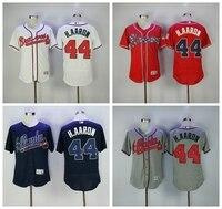 MLB Men S Atlanta Braves Hank Aaron Jersey Flex Base White Red Gray Blue Jersey