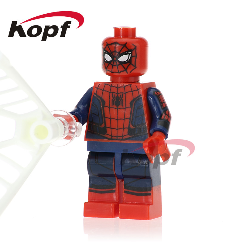 0274 Building Blocks Spiderman Spider-homecoming Spiderwomen Biker Spider-man Super Heroes Action Bricks Kids Gift Toys