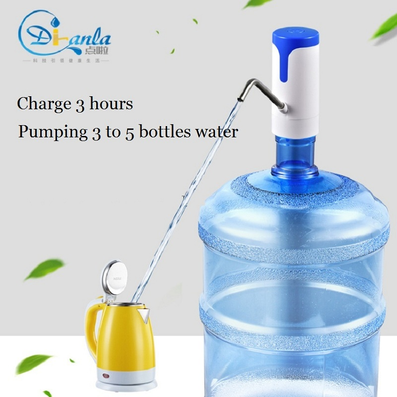 Bottle water dispenser wireless bottle water pump USB rechargeable the electric automatic drink water dispenser portable pump yj humidifier electric water bottle pump dispenser drinking water bottles suction unit water dispenser kitchen tools