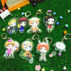 8PCS SET Anime Keychain APH Axis Power Hetalia Anime World Twinkle Italy US China Keychain Pendant