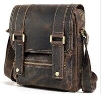 men's Genuine leather shoulder messenger bag men small vintage Casual handbag male flip cover bag for ipad man messenger bags