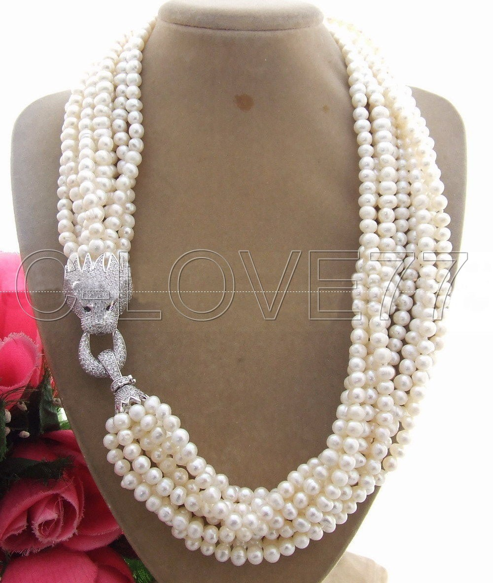 9 S perle et strass fermoir collier gratuit + expédition