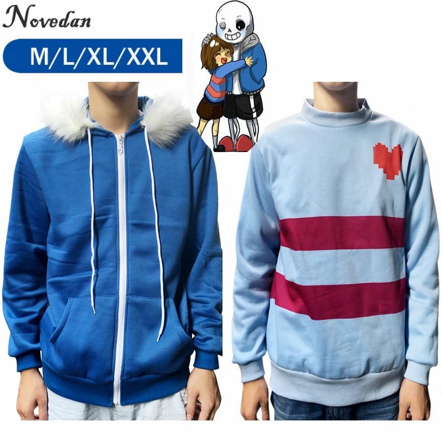 Sans Undertale Cosplay Papyrus Blau Hoodie Kostüm Spiel Sweatshirts Frauen Mann Zipper Hoodies Sweatshirt Winter Jacke Mantel