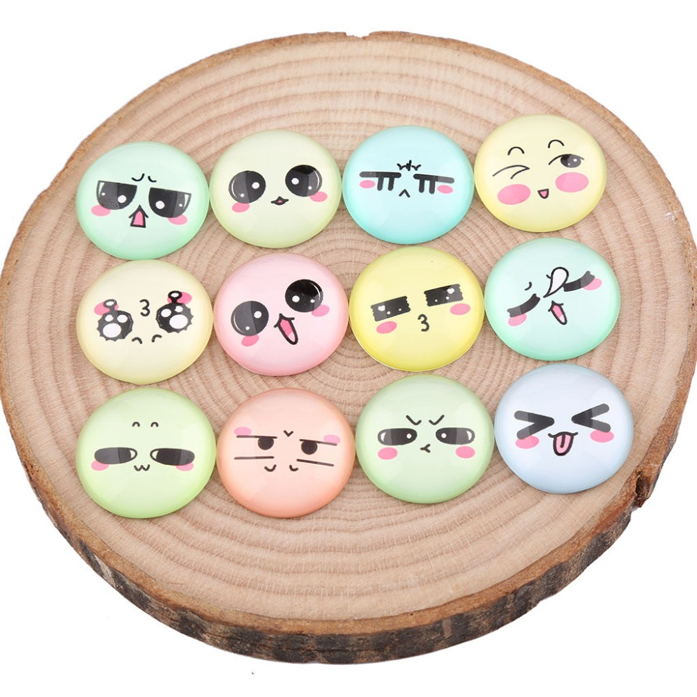 25 30 Go To Www Bing Com: Onwear Mix Expression Face Photo Round Glass Cabochon 12mm