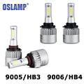 Oslamp 9005/9006 72W Car LED Headlight Bulb HB3/HB4 6500K 8000lm COB Auto Fog Light Headlamp for Toyota/Renault/VW/Hyundai/Kia