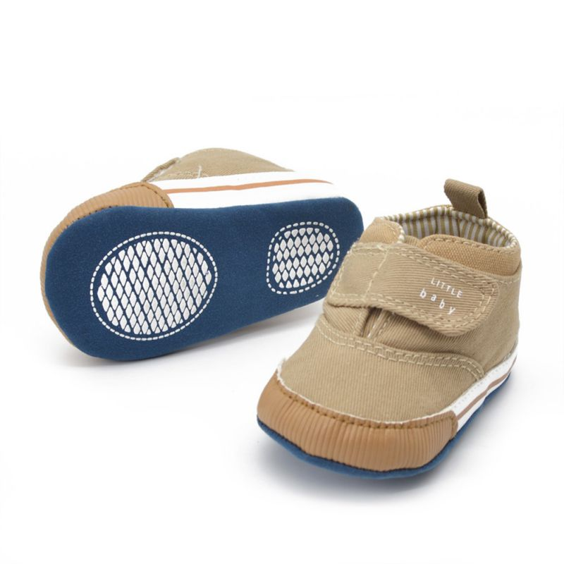 Popular And Casual Baby Boys Cotton Ankle Canvas High Crib Shoes Kid Sneaker Boots Comfortable For Dressing