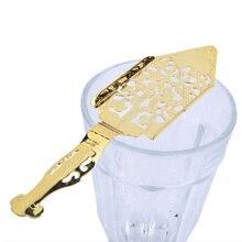20 шт./лот 304 ложка для абсента из нержавеющей стали металлические барные ложки absinthe стеклянная чашка посуда ложки фильтр ложка