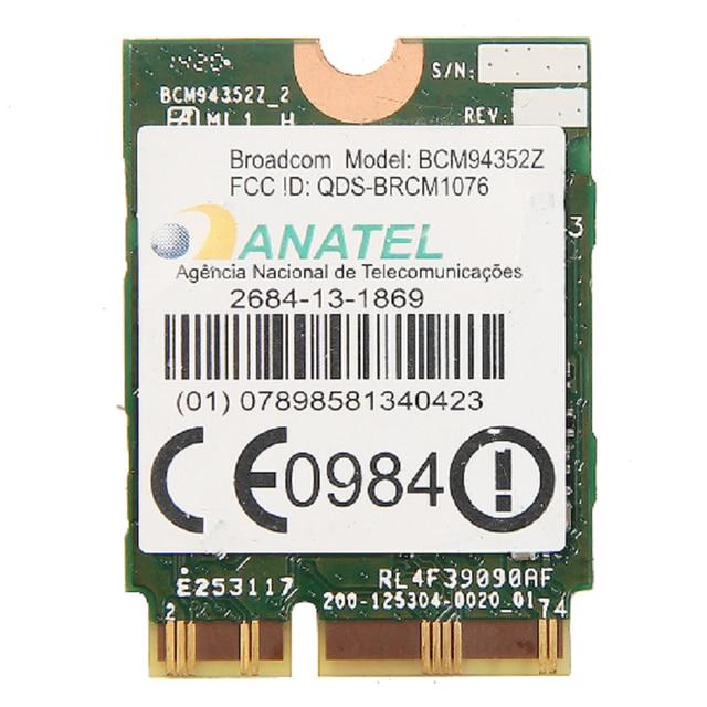 Nouveau Broadcom BCM94352Z Double bande Sans Fil-AC NGFF 802.11ac 867 Mbps WIFI Bluetooth BT 4.0 Carte Pour IBM/Lenovo/Thinkpad 04X6020