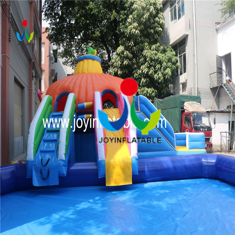inflatable slide with swimming pool3